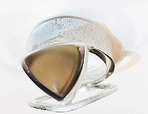 Isosceles Sterling Silver Smoky Quartz Ring - Aatlo Jewelry Gallery