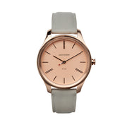 Jack Mason 38mm Women's Slim Watch With Rose Gold Dial And Grey Strap - Aatlo Jewelry Gallery
