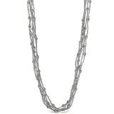 Peter Storm Julia Five Strand Woven Sterling Silver Diamond Cut Bead Necklace - Aatlo Jewelry Gallery