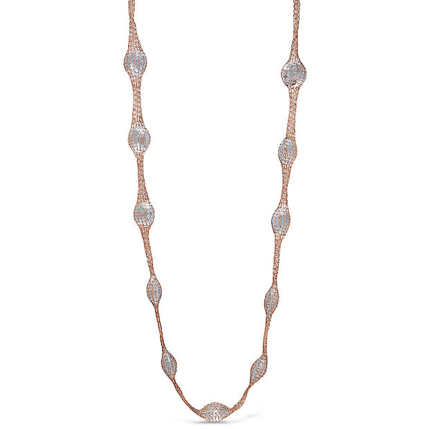 Peter Storm Woven Rose Gold and Quartz Gemstone Necklace - Aatlo Jewelry Gallery