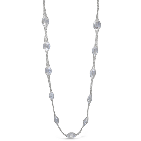 Peter Storm Woven Sterling Silver and Quartz Gemstone Necklace - Aatlo Jewelry Gallery