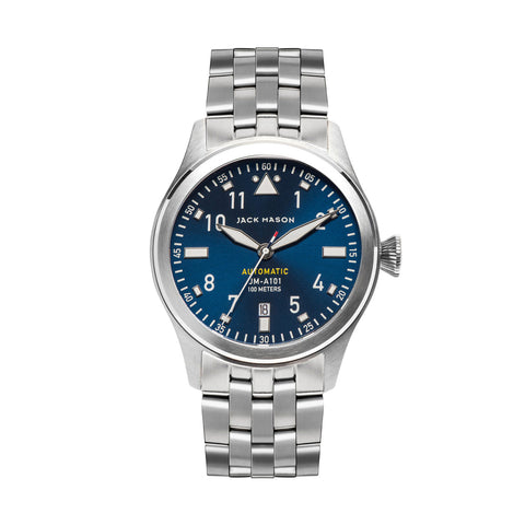 Jack Mason Aviator Automatic Watch With Blue Sun Ray Dial - Aatlo Jewelry Gallery