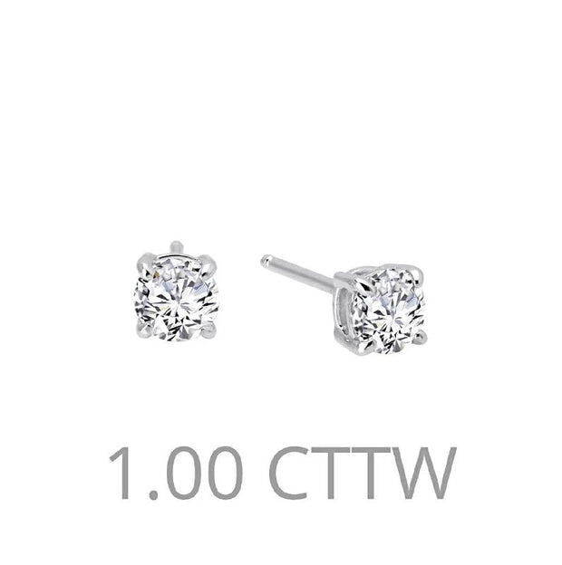 Lafonn One Carat Diamond Stud Earrings - Aatlo Jewelry Gallery