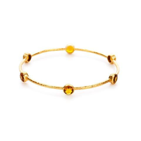 Julie Vos Milano 6 Stone Citrine Bangle - Aatlo Jewelry Gallery