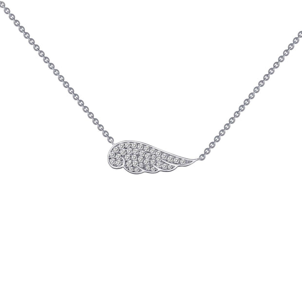 Lafonn Lassaire Diamond Angel Wing Necklace