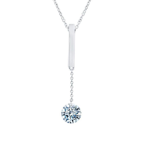 Lafonn Single Lassiare Diamond Bar Pendant - Aatlo Jewelry Gallery