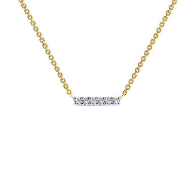 Lafonn Lassaire Dainty Diamond Bar Necklace