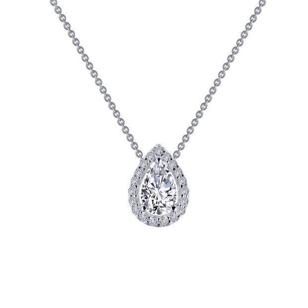 Lafonn Lassaire Diamond Pear Shape Halo Necklace