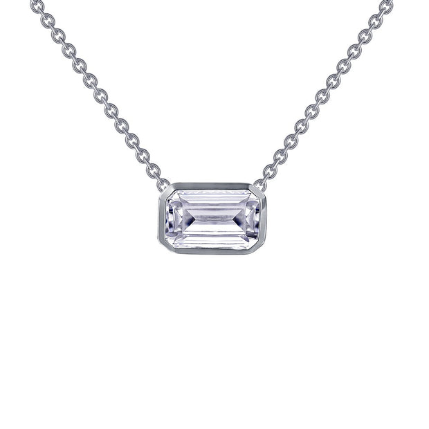 Lafonn Lassaire Diamond Emerald Cut Choker Necklace