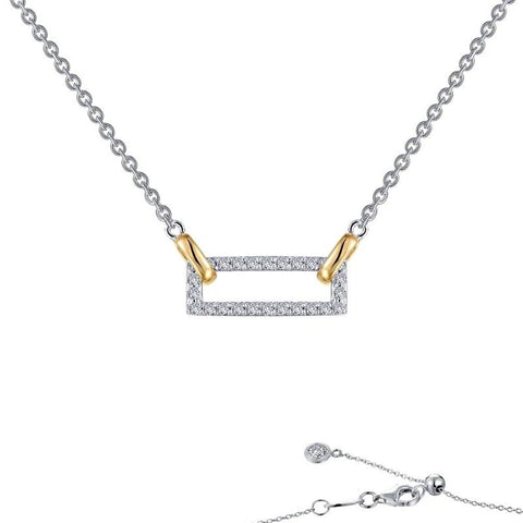 Two Tone Lassaire Diamond Choker Necklace