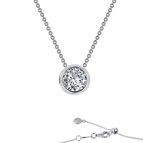 Bezel Set Lassiare Diamond Pendant in White - Aatlo Jewelry Gallery