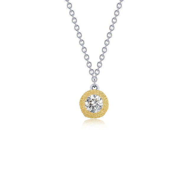 Lafonn Lassaire Diamond Adjustable Two Tone Solitaire Necklace
