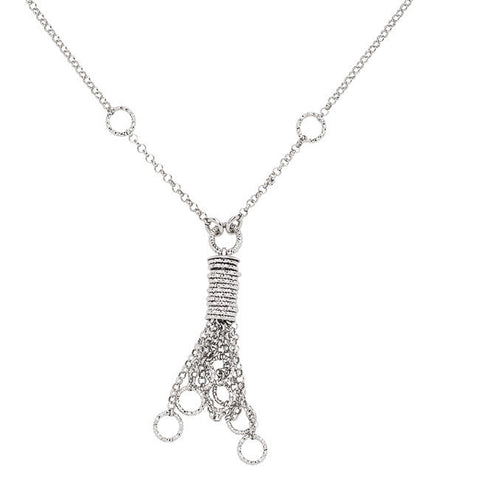 Frederic Duclos Sterling Silver Tassel Necklace - Aatlo Jewelry Gallery