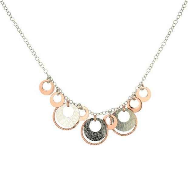 Frederic Duclos Sterling Silver and Rose Gold Diedra Necklace - Aatlo Jewelry Gallery