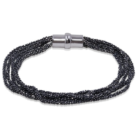 Peter Storm Multi Strand Black Onyx Faceted Beads Bracelet - Aatlo Jewelry Gallery