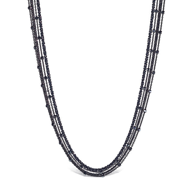 Peter Storm Smoke Collection Faceted Five Strand Sterling Silver Necklace - Aatlo Jewelry Gallery