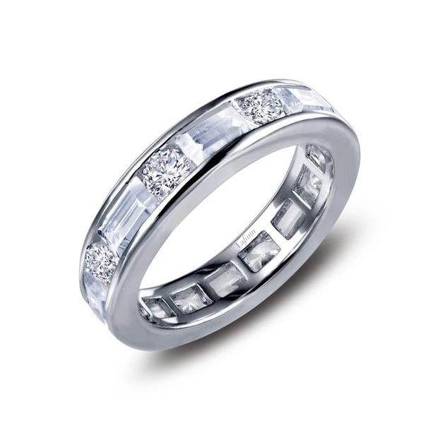 Lafonn Baguette And Round Lassiare Diamond Eternity Band - Aatlo Jewelry Gallery