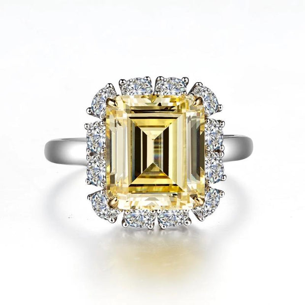 Lafonn Classic Canary Yellow Diamond Halo Ring - Aatlo Jewelry Gallery