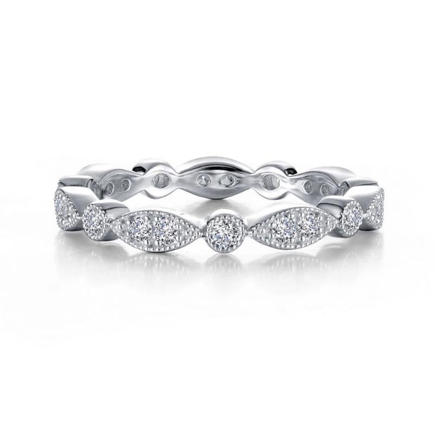 Lafonn Stackable  Lassaire Diamond Eternity Band - Aatlo Jewelry Gallery