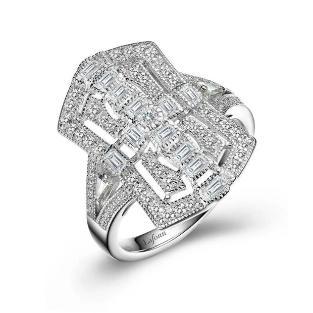 Lafonn Heritage Collection Art Deco Inspired Diamond Ring - Aatlo Jewelry Gallery