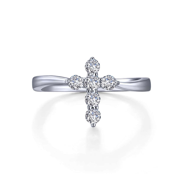 Lafonn Cross Ring With Lassiare Diamonds