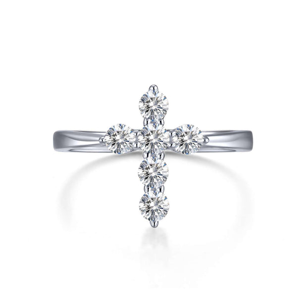 Lafonn Cross Curve Ring With Lassiare Diamonds