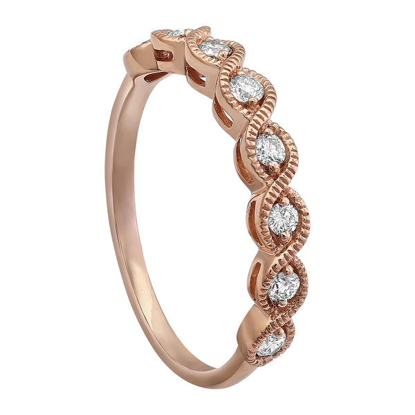 14k Rose Gold Diamond Ring - Aatlo Jewelry Gallery
