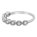 14k White Gold Diamond Band - Aatlo Jewelry Gallery