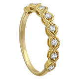 14k Yellow Gold Diamond Stacking Ring - Aatlo Jewelry Gallery