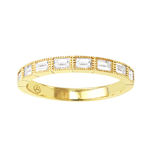 Yellow Gold Diamond Baguette Ring