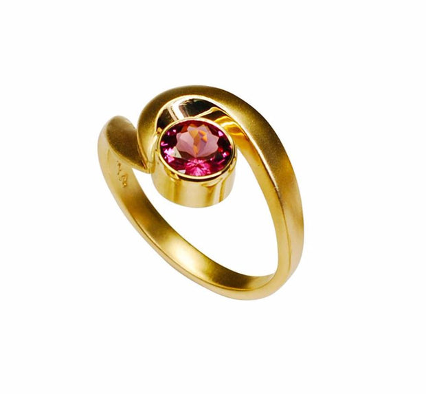 Gordon Aatlo Designs 14k Yellow Gold Rhodolite Garnet Ring - Aatlo Jewelry Gallery