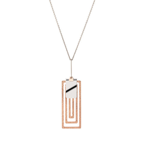 Sterling Silver and Rose Gold Pendant By Frederic Duclos