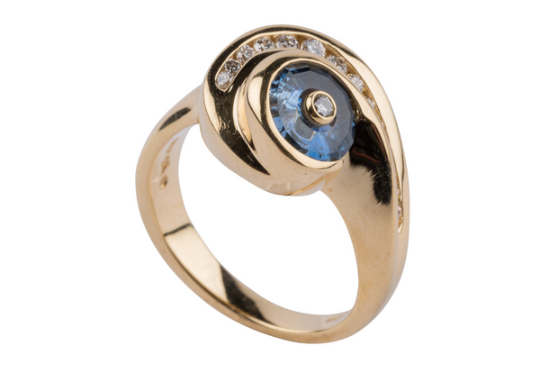 Gordon Aatlo Legacy Collection - Aatlo/Lehrer Blue Sapphire and Diamond Ring - Aatlo Jewelry Gallery