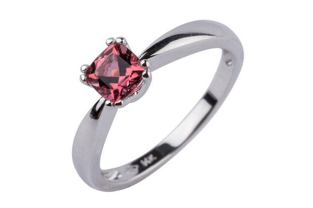 14k White Gold and Pink Tourmaline Ring - Aatlo Jewelry Gallery