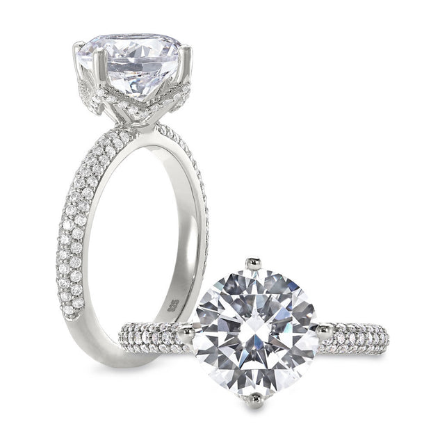 Peter Storm Bridal Solitaire with Diamond Shank 18K Gold Diamond Ring - Aatlo Jewelry Gallery