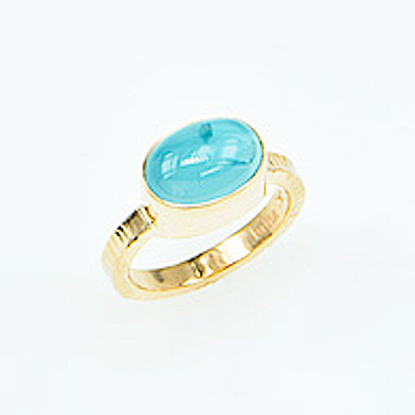 Michael Baksa 14K Gold Aquamarine Ring - Aatlo Jewelry Gallery