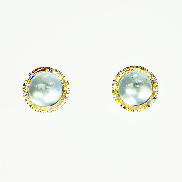 Michael Baksa 14k Natural Blue Topaz Earrings