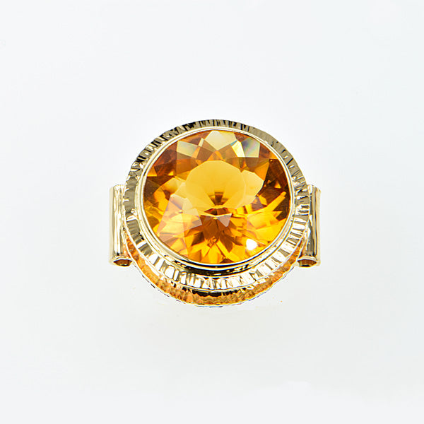 Michael Baksa 14K Gold Honey Citrine Ring
