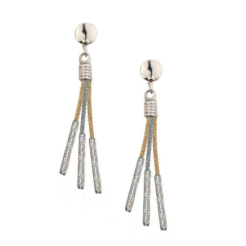 Frederic Duclos Tri-Colored Drop Earrings - Aatlo Jewelry Gallery