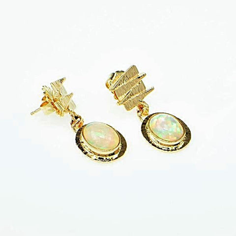 Michael Baksa 14k Yellow Gold Ethiopian Opal Drop Earrings