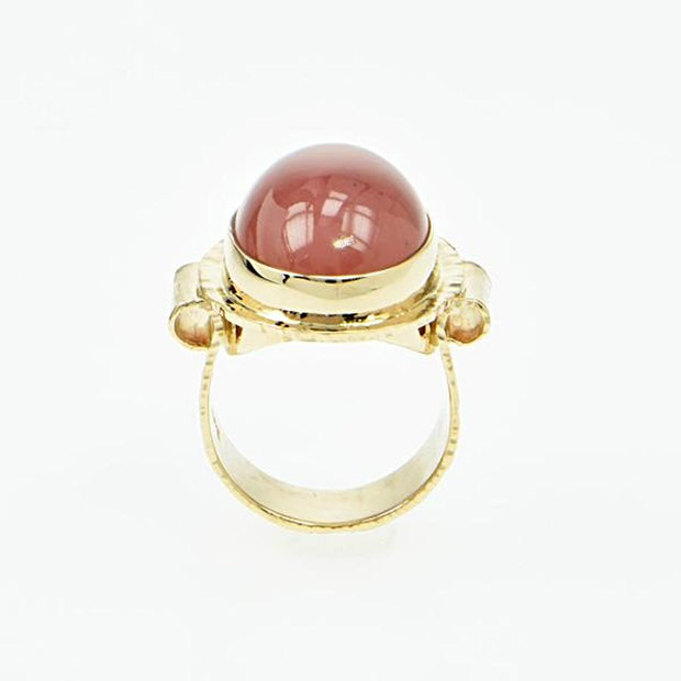 Michael Baksa Unique  Rasberry Sorbet Grossular Garnet 14K Gold Ring - Aatlo Jewelry Gallery