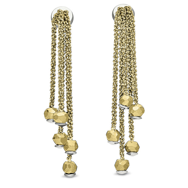 Peter Storm Yellow Gold Chain Drop Earrings - Aatlo Jewelry Gallery