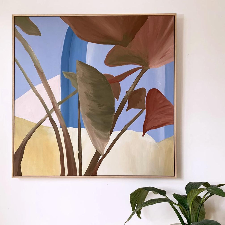 Under The Shade - Original Painting | Acrylic Medium on Canvas | Tasmanian Oak Frame