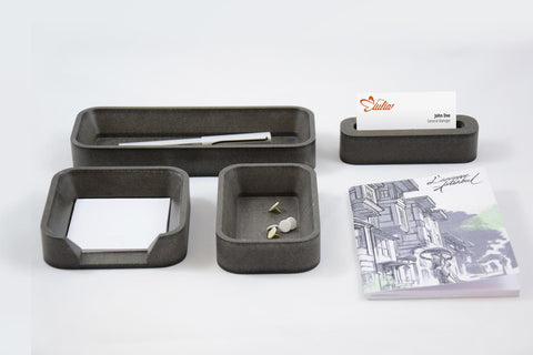 Desk Organizer Set SQ Grigio
