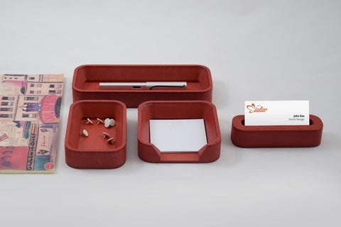 Desk Organizer Set SQ Rossa