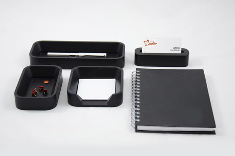 Desk Organizer Set SQ Nero