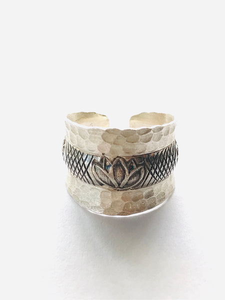 lotus love hill tribe silver ring