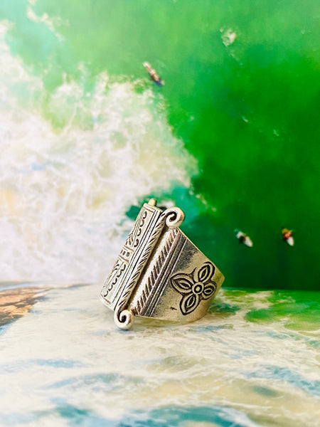 warrior silver ring