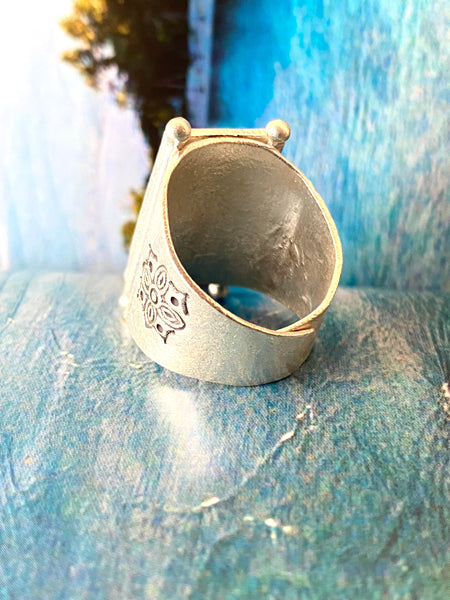 hill tribe silver chief ring