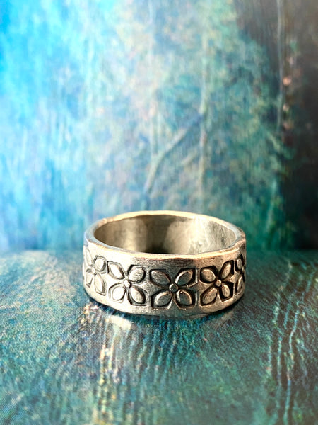 hill tribe silver band ring